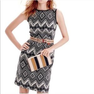 J. Crew Diamond Ikat Geo Jacquard Sheath Dress